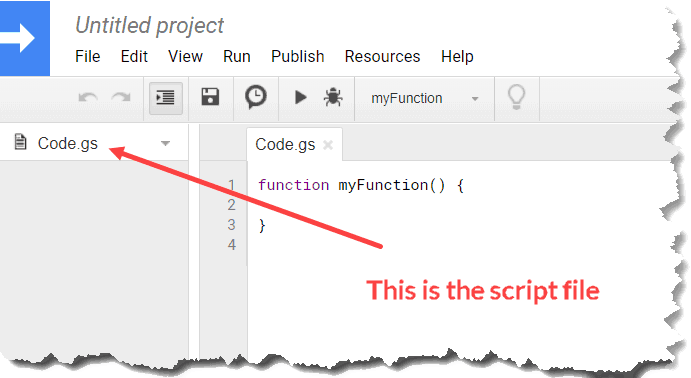 Script File in Google Sheets