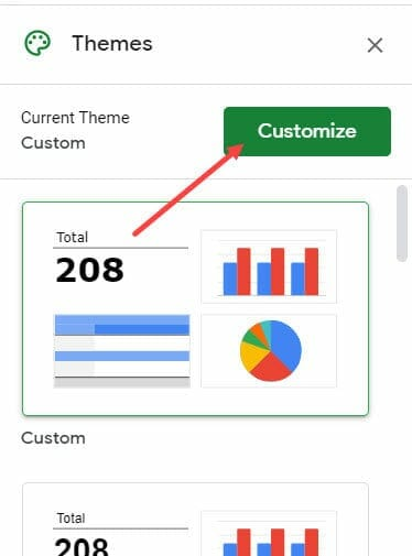 Click on the Customize button