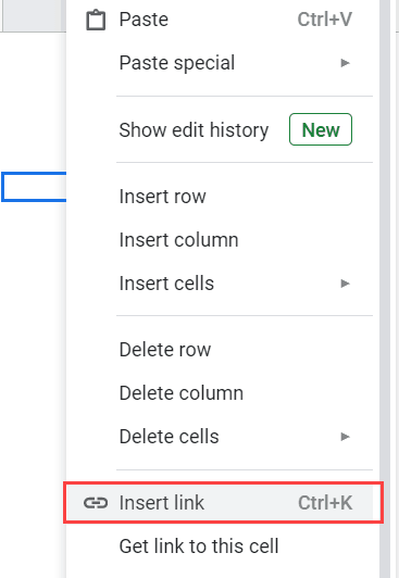 Right click and then click on Insert Link