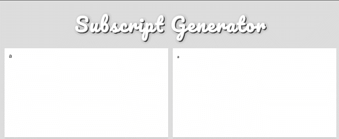 Subscript generator for Google Sheets