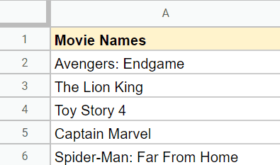 Data to count characters in Google Sheets