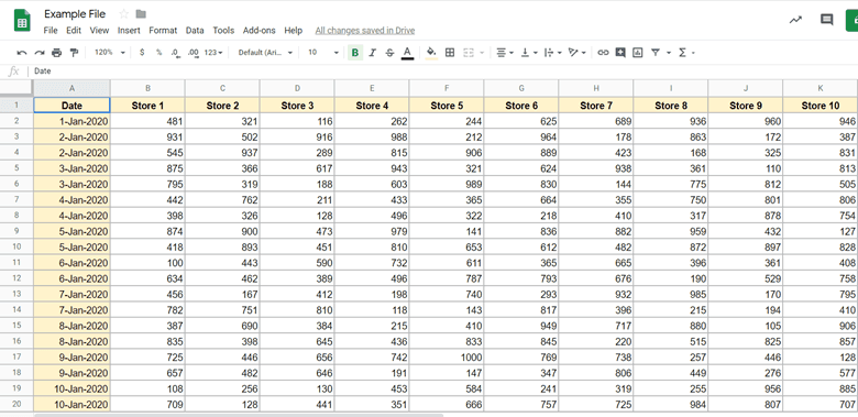 Dataset that needs to be printed in one page