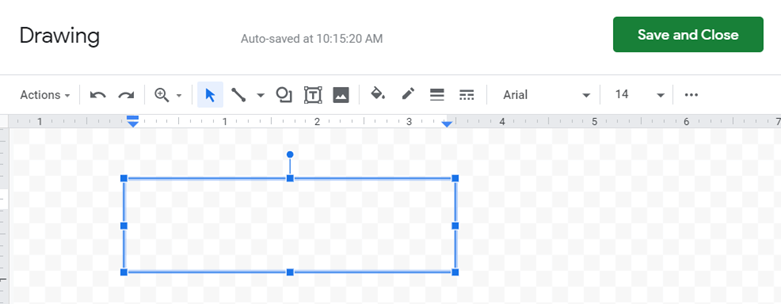 Click and drag to insert the text box in google sheets