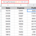 Copy Down Formula to an entire column uisng Array formula