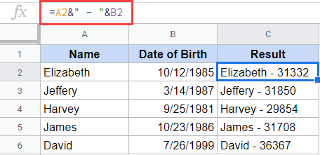 Date format changes when combined with text