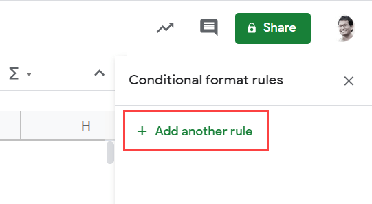 Click on add another rule