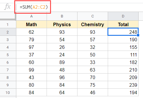 Dataset with formula