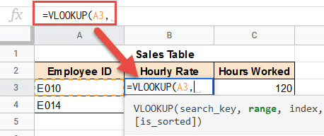 Choose the Lookup value