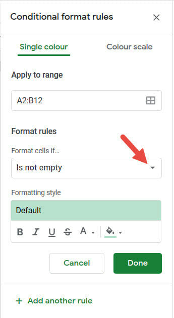 Click on Format cells if option