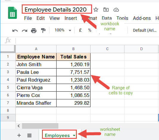 Employee Details workbook