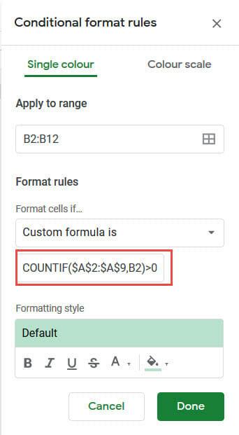 Formula to find duplicate data