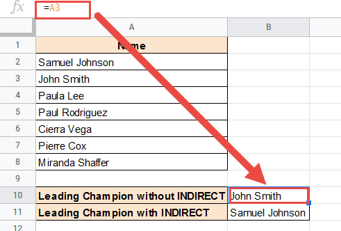 Adding a row changed the cell reference