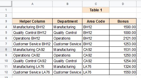 Apply the formula to the entire helper column