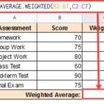 Average Weighted to calculated weighted average