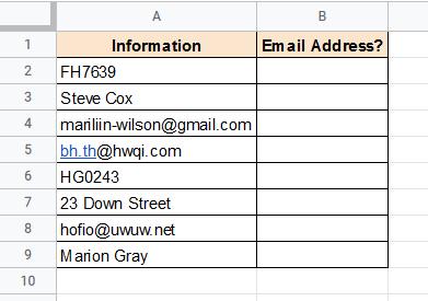Email address dataset