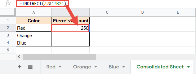 Formula to refer to sheet name and cell reference