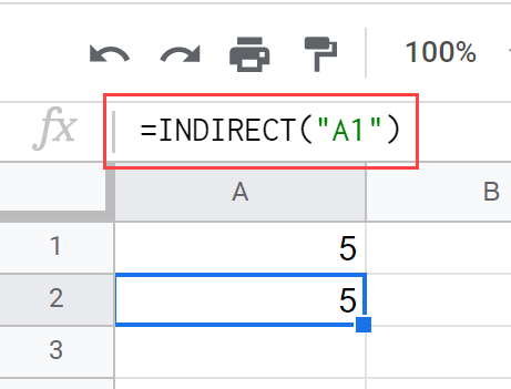 INDIRECT Function Example