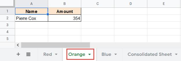Orange Sheet