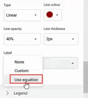 Use Equation option