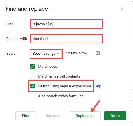 Find and Replace Regex