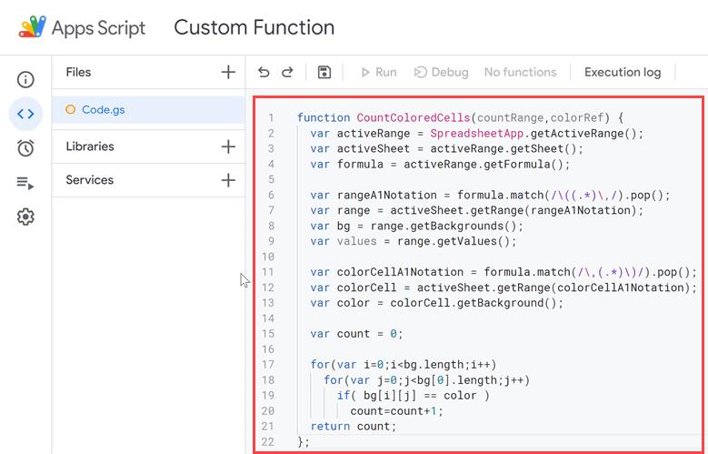 Copy paste code in the code window