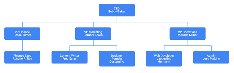 Org Chart with names and designation
