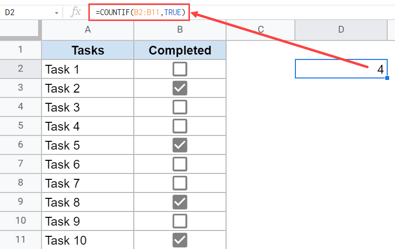 Formula to count all checkboxes