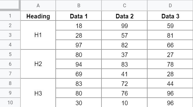 Stack Vertically Dataset
