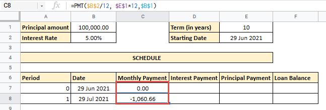 amortization schedule spreadsheet