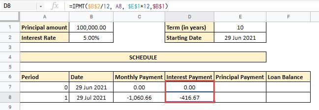 amortization schedule google sheets