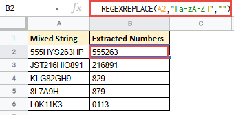 Extracting All Numbers in a String by Removing the Text Part