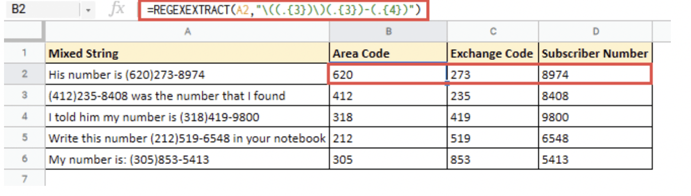 How to Extract Numbers From a String in Google Sheets