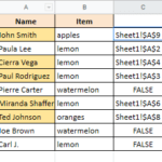 google sheets compare two sheets