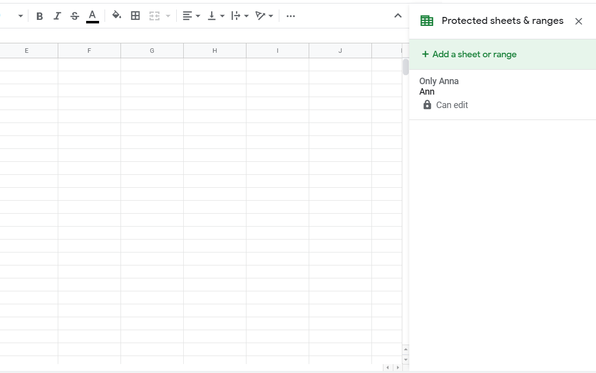 google sheets share only one tab