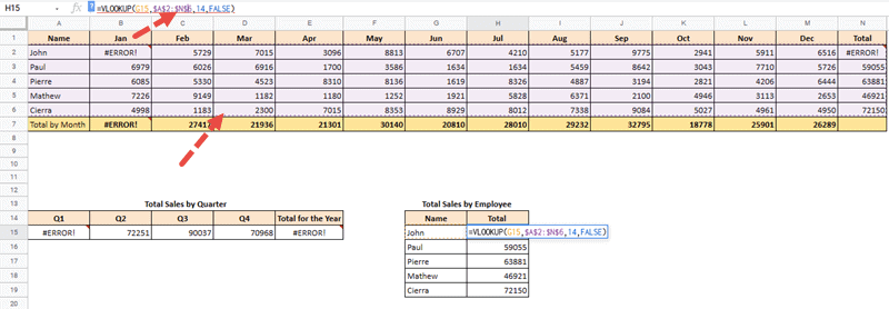 google sheets trace dependents