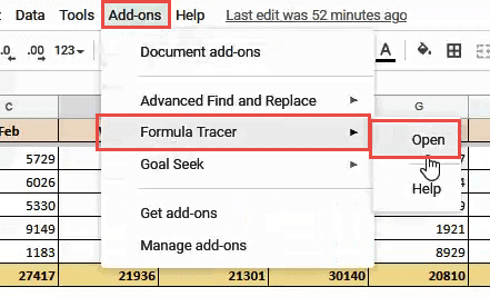 open formula tracer