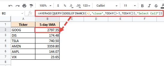 How to Calculate Moving Average in Google Sheets