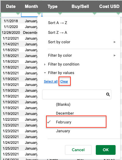 select february