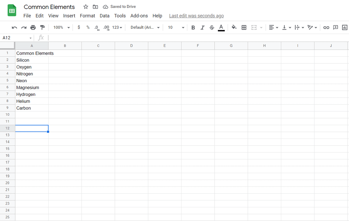 reverse order in google sheets