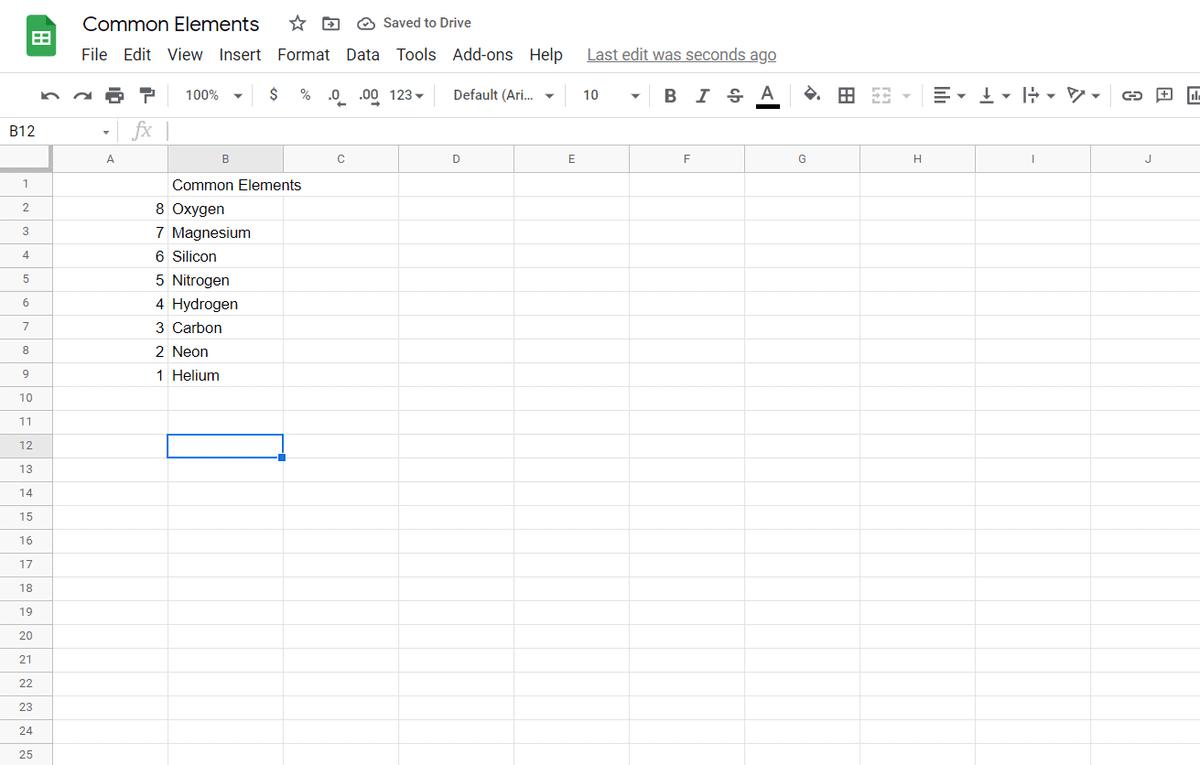 Reverse order google sheets